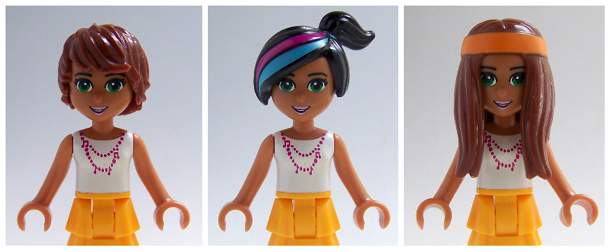 LEGO minifigure hair on LEGO friends