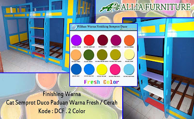 Contoh Furniture Finising Duco Paduan Warna Fresh
