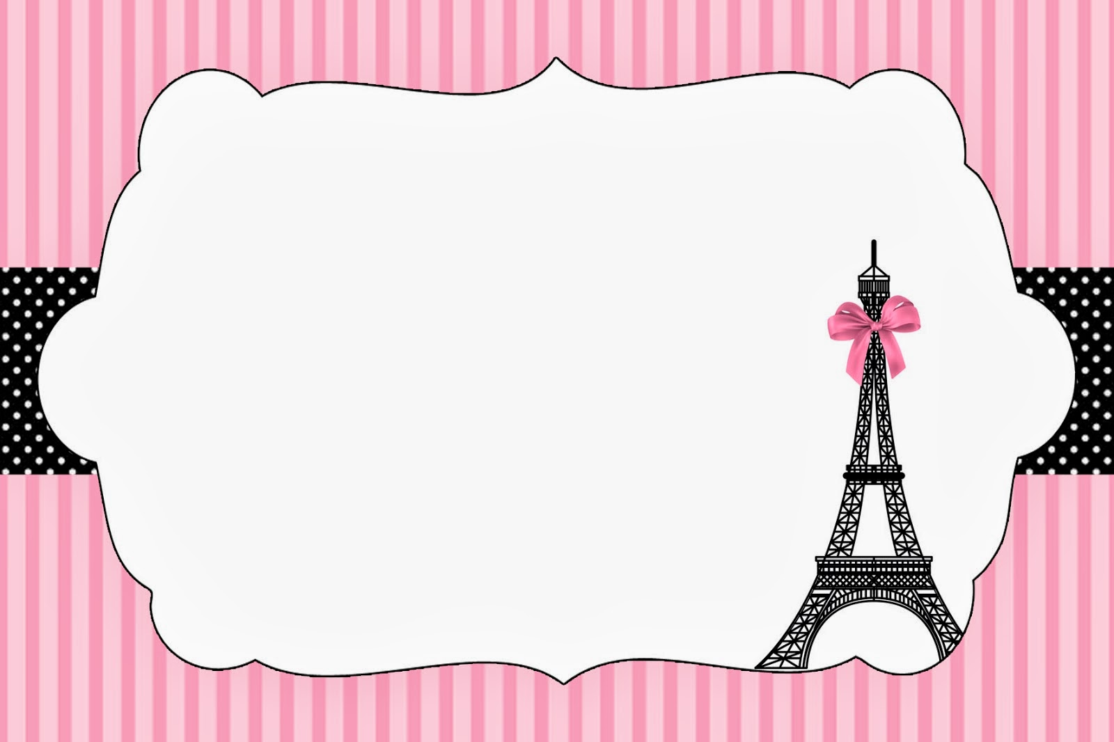 Paris Invitations and Free Party Printables – Party Invitations for Free