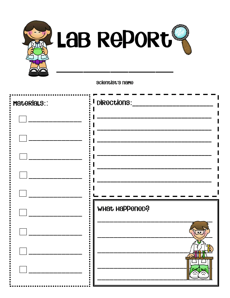Examples Of Lab Reports For Chemistry