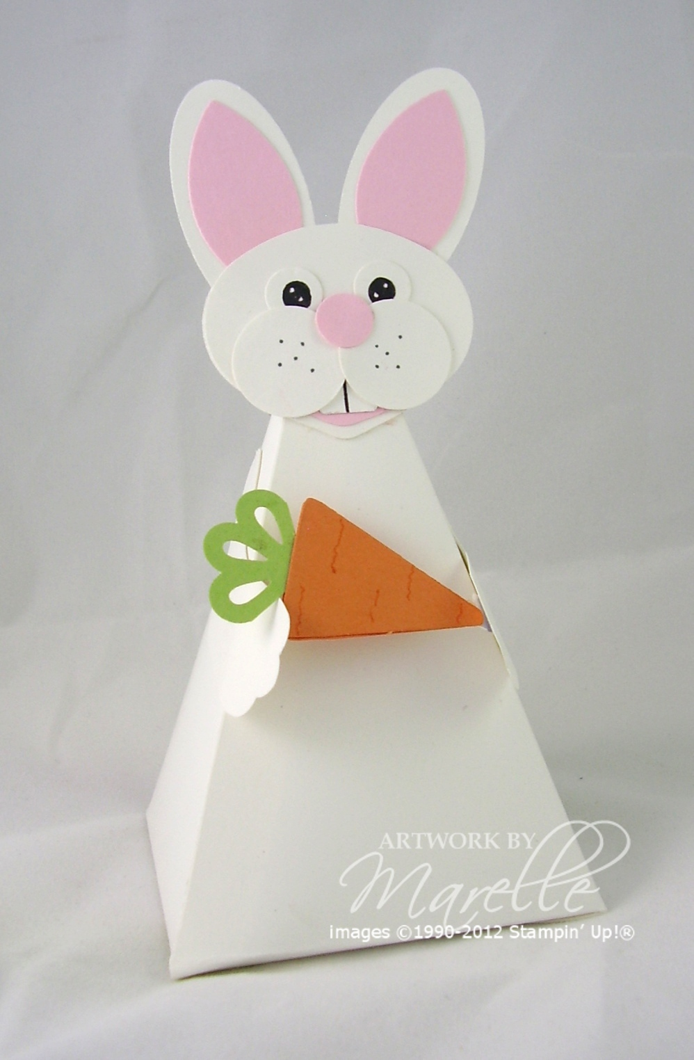 Marelle taylor stampin up demonstrator sydney australia easter you might remember my christmas petal cone gifts well here is an easter bunny version that well be making in my class next week negle Images