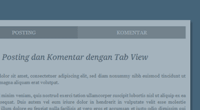 tab view komentar