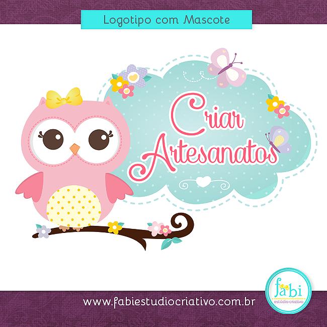 Logotipo, Logomarca, Design, Design para artesã, cute-cute, logo elegante, logotipo delicado, logo fofo, logo com coruja,