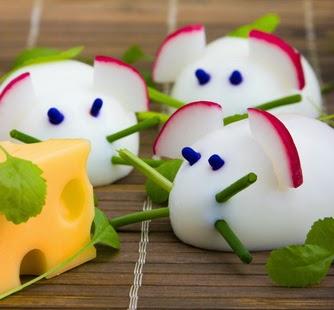 ide makanan lucu untuk anak susah makan ~ telur berbentuk tikus
