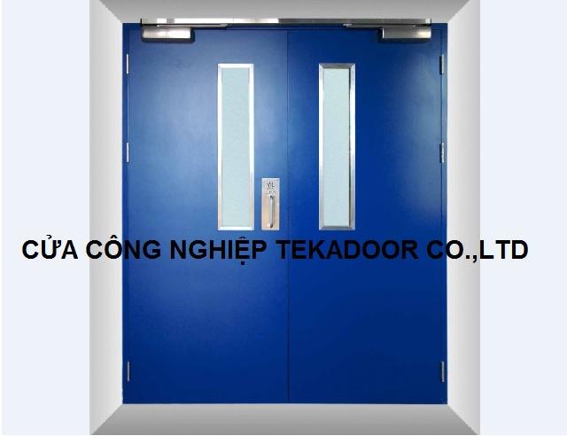 Cửa thép sơn chống cháy Steel Proof door