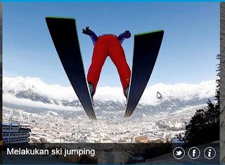 inovLy media : Melakukan ski jumping
