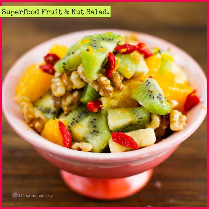 Superfood Bliss Bowl: Fresh Fruit, Cacao Cream, Warm Brown Rice.