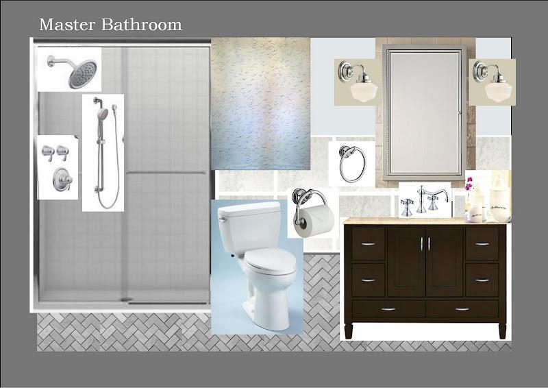 Floor tile: basketweavemosaics.com, herringbone carrara marble mosaic  title=