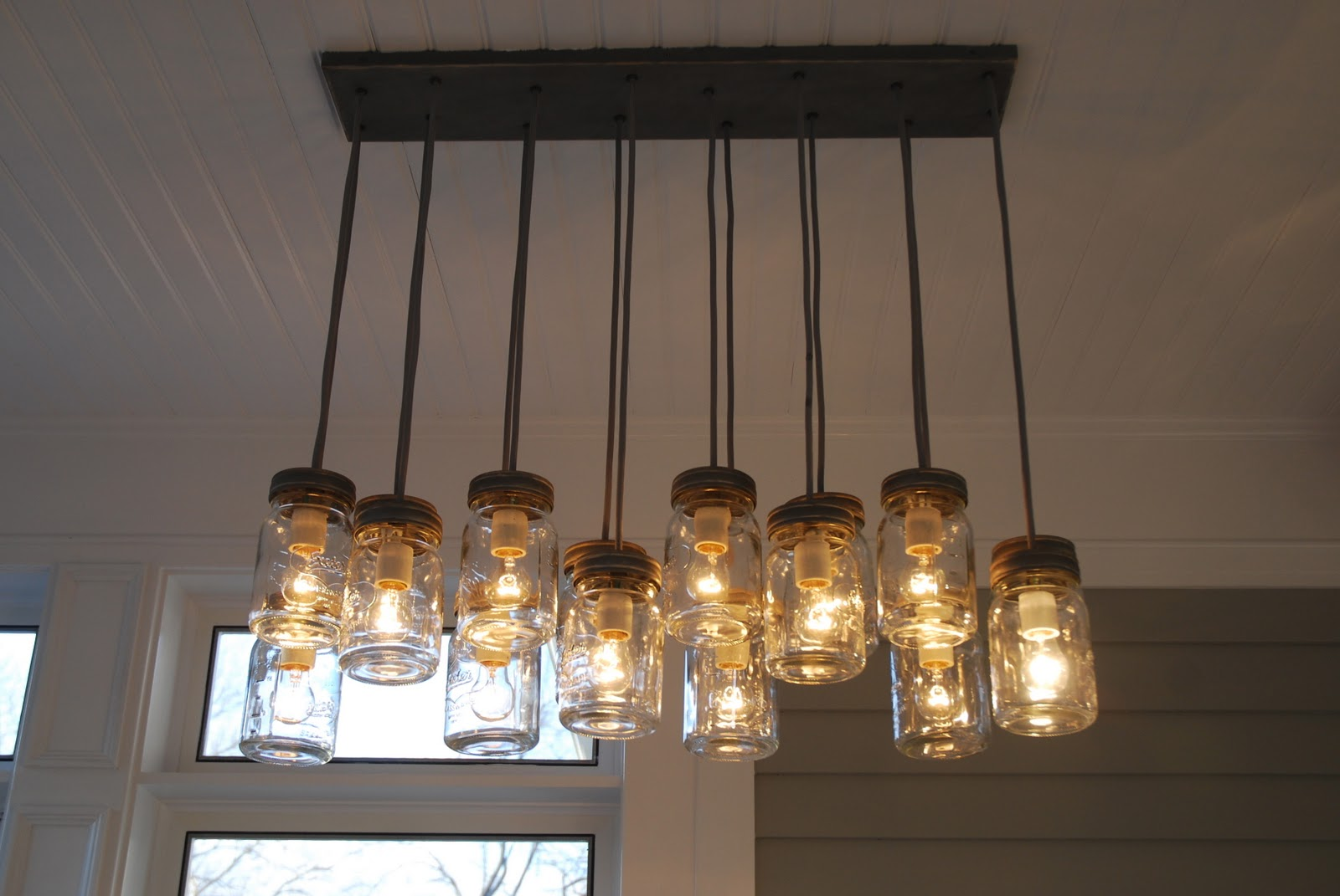 The Princess and The Frog Blog Farm Table Chairs Mason Jar Chandelier