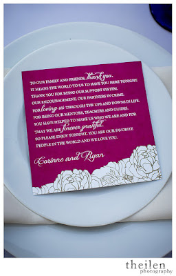 Fuchsia and Gold Wedding Thank You Notes l Theilen Photo l Take the Cake Event Planning
