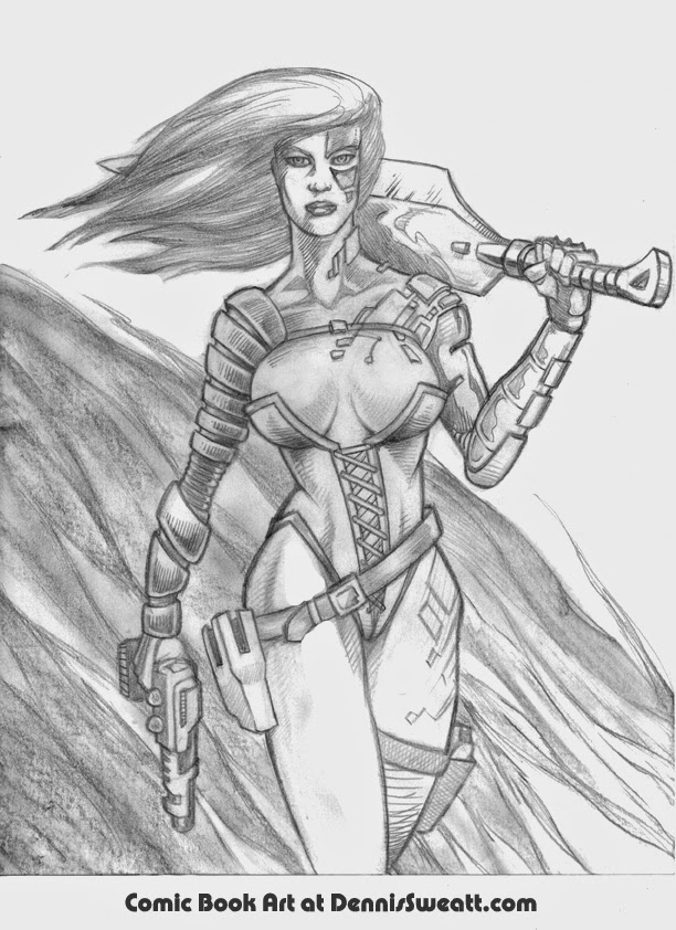 Female Worrior Drawing