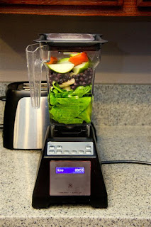 Breakfast smoothie in the Blendtec