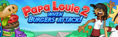 Papa Louie 2: When Burgers Attack flipline studios flash game