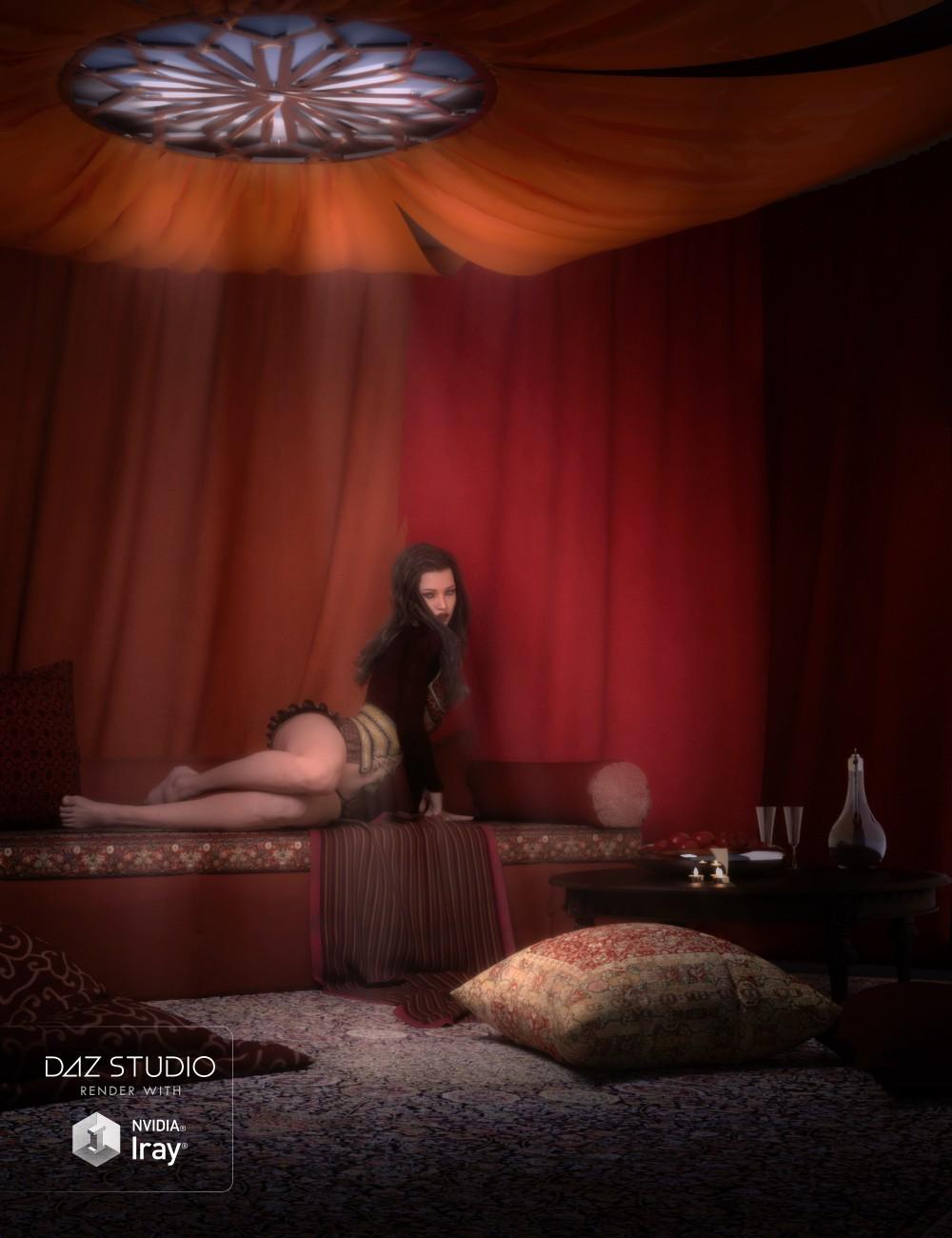 Download daz studio 3 for free daz 3d eastern tent room for Living room 2 for daz studio