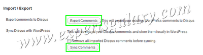 Export Wordpress Comments Disqus