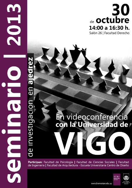 Afiche del Seminario 2013 de investigación en ajedrez
