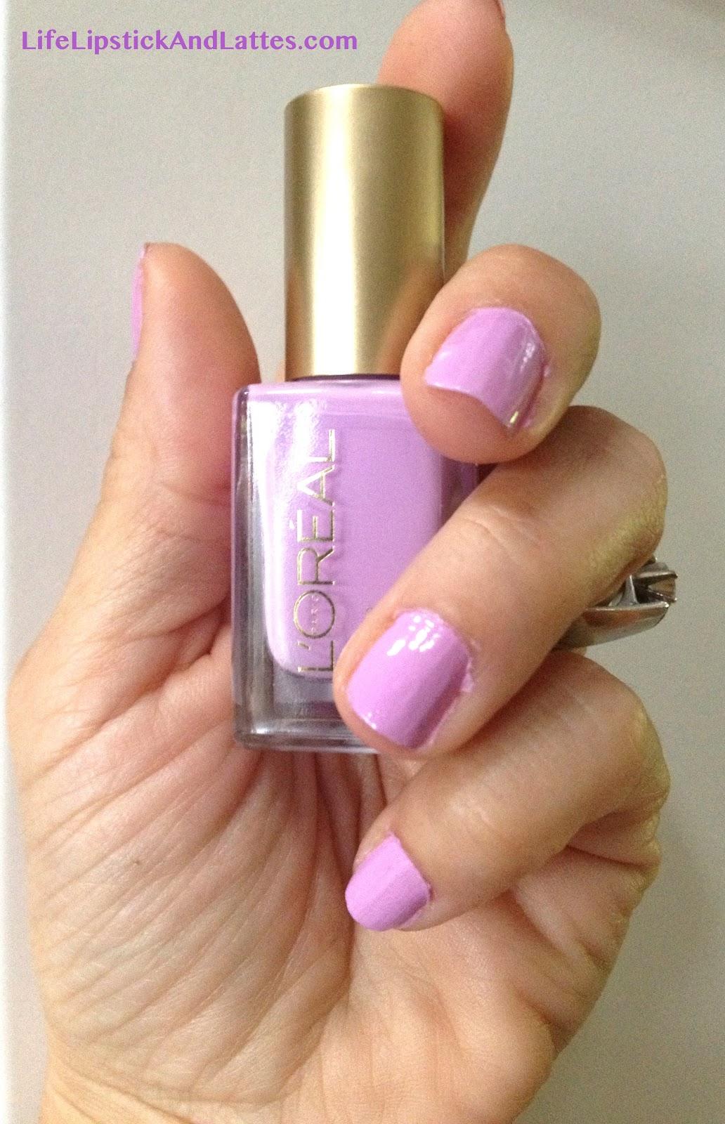 Life, Lipstick and Lattes: L\'Oreal Lacey Lilac Nail Polish