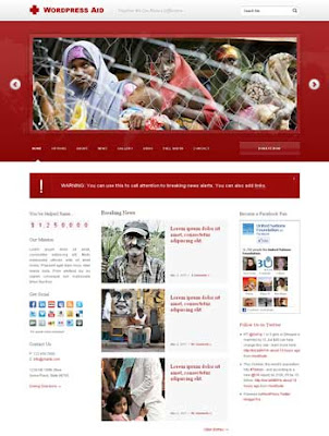 WordPress Aid WordPress Theme. magazine wordpress theme. featured content for wordpress theme. clean wordpress theme