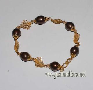 gelang emas Mutiara Tawar