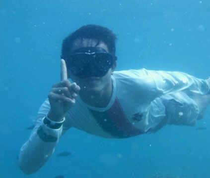 dibawah laut pulau tidung