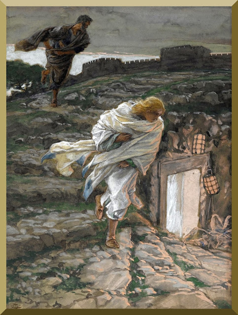 """Saint Peter and Saint John Run to the Sepulchre"" -- by James Tissot"