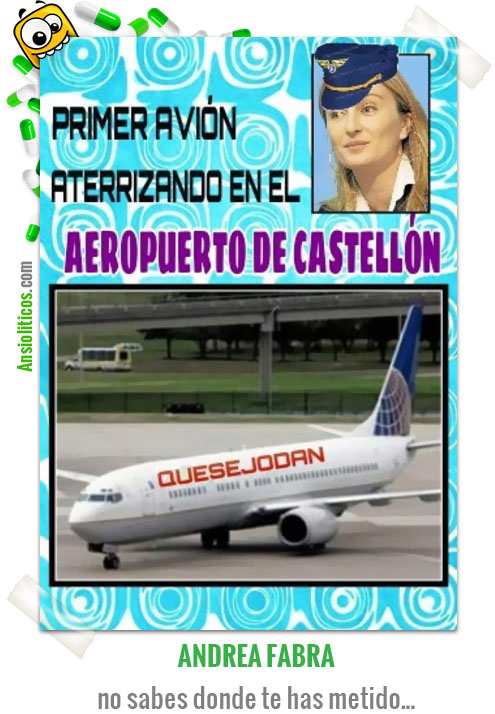 Chiste de Política El primer Avión de Castellón
