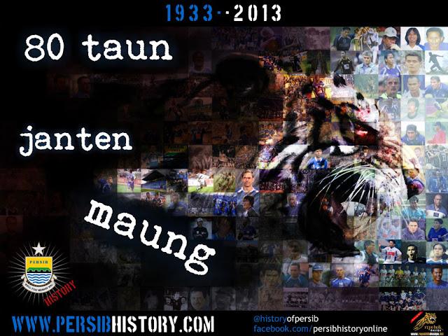 PERSIB History Wallpaper - 80 Tahun Mosaic