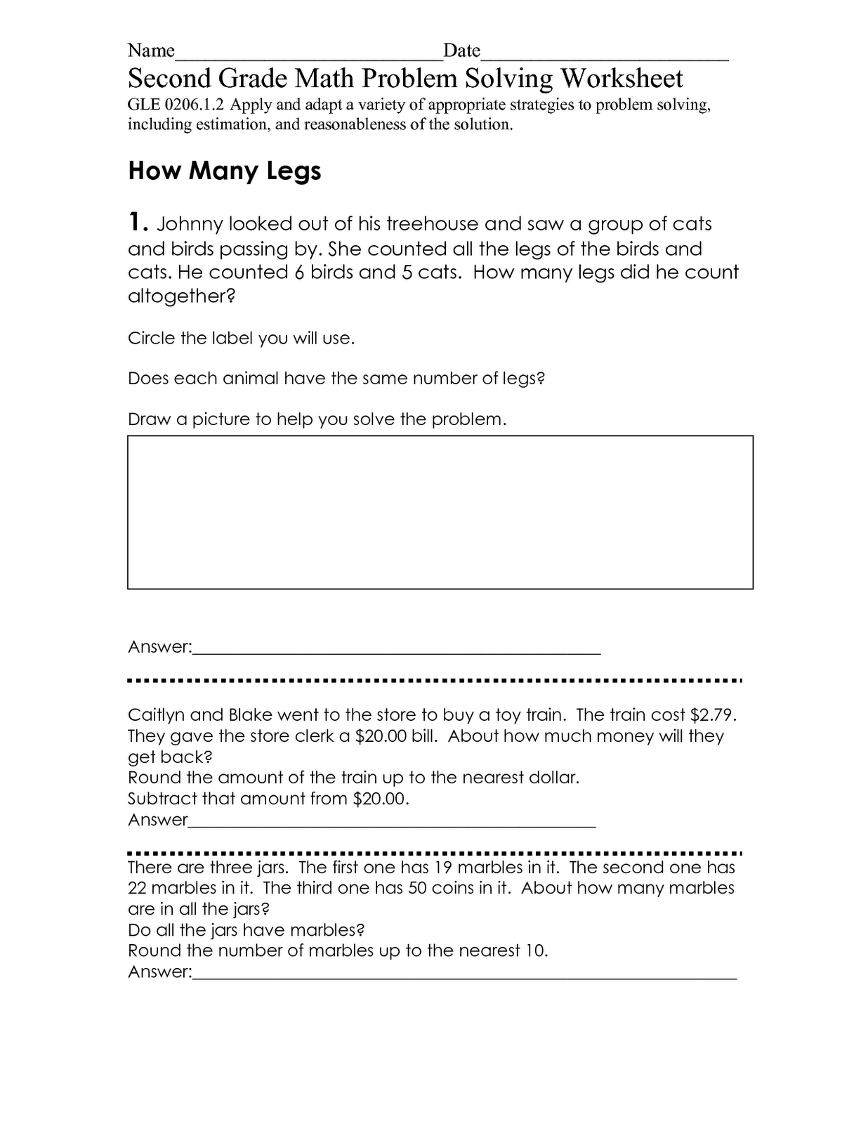 Second Grade Math Problem Solving Yourhelpfulelf – Second Grade Math Problems Worksheet