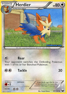Herdier Dark Explorers Pokemon Card