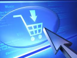 Puntero sobre carro de la compra online