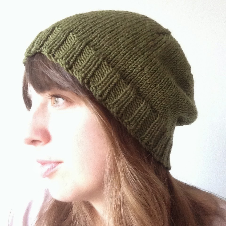 Working Yarns: Pattern | Knitted Simple Slouchy Hat