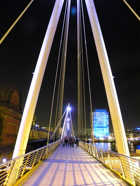 Hungerford Bridge by night