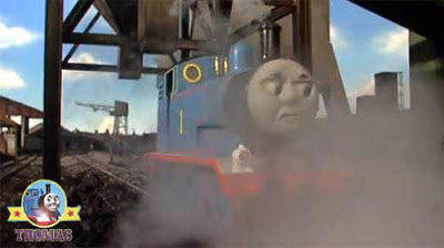 Little blue Thomas the number 1 engine was still upset when he arrived at the goods shunting yard