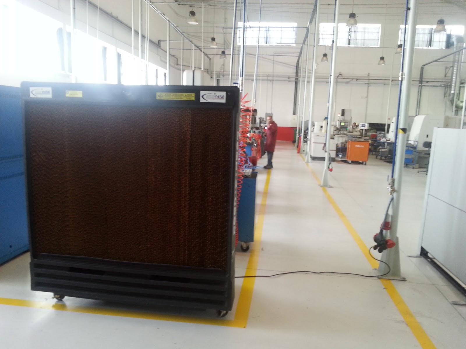 PORTACOOL: Solución practica para bajar temperatura nave industrial #9F782C