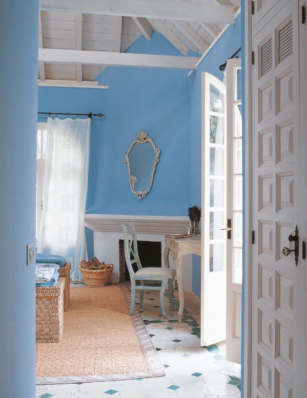 pintar paredes de azul
