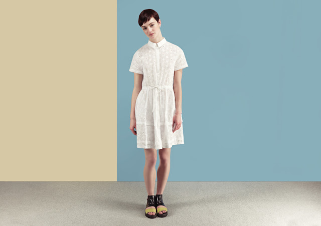 white embroidered dress, embroidered shirt dress,