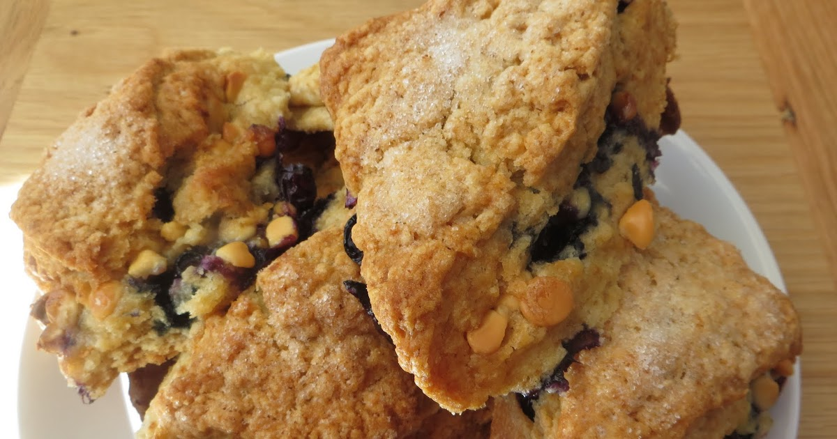 ... than occasional baker: Blueberry and white chocolate buttermilk scones