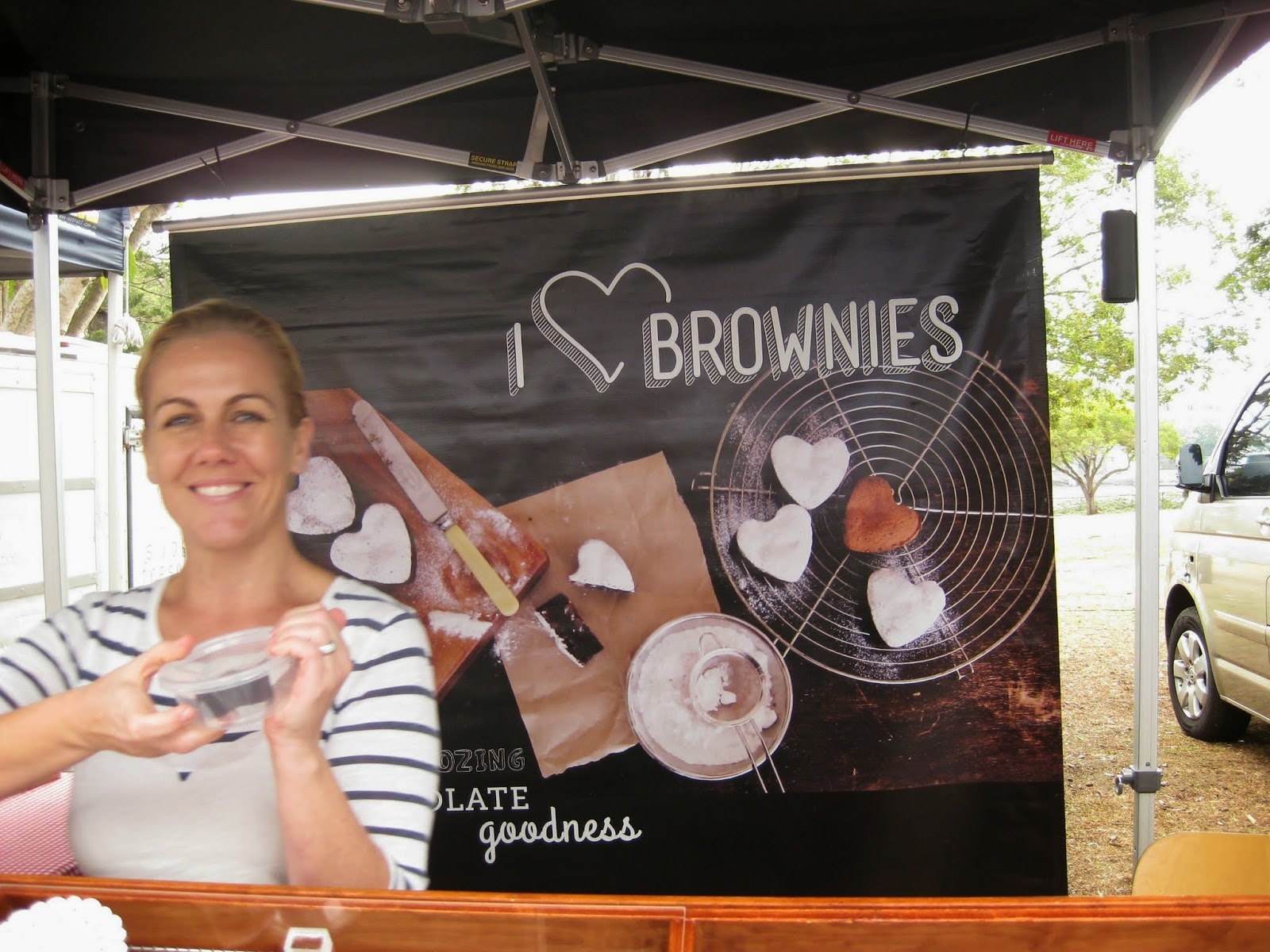 Cassie Cakes Jan Powers Markets I Heart Brownies lovely brownie lady