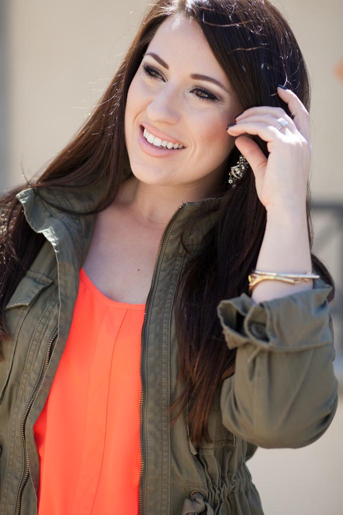 jcrew utility jacket, summer makeup ideas