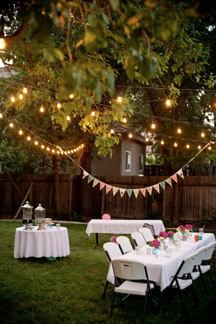 Winter Backyard Party Ideas : Pink+Backyard+Birthday+Party37jpg