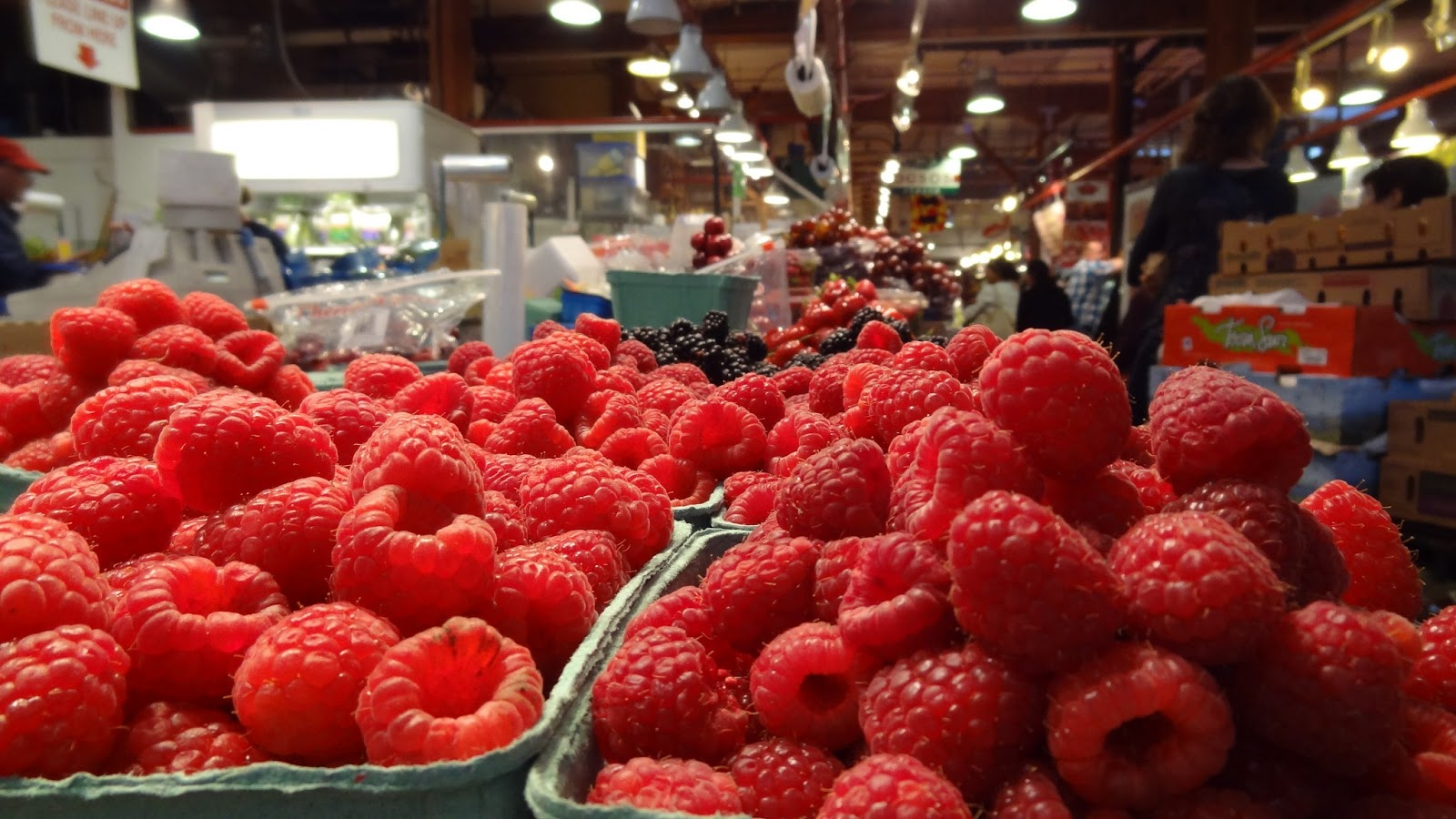 Raspberries at Granville Island