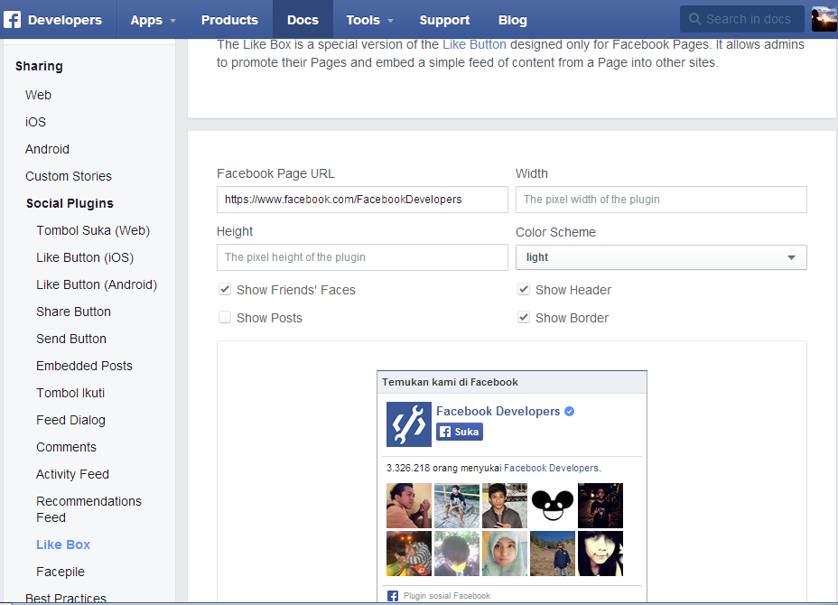 Membuat Widget Like Fanspage Facebook di Blogger
