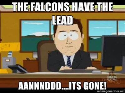 The Falcons have the lead aannnddd... its gone!
