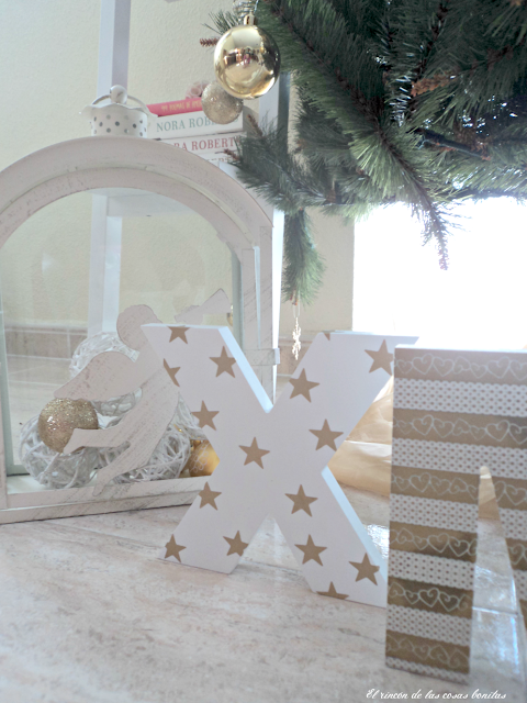 Letras de madera decoradas para navidad el rinc n de las - Letras home decoracion ...