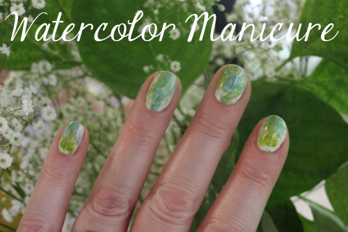 watercolor manicure
