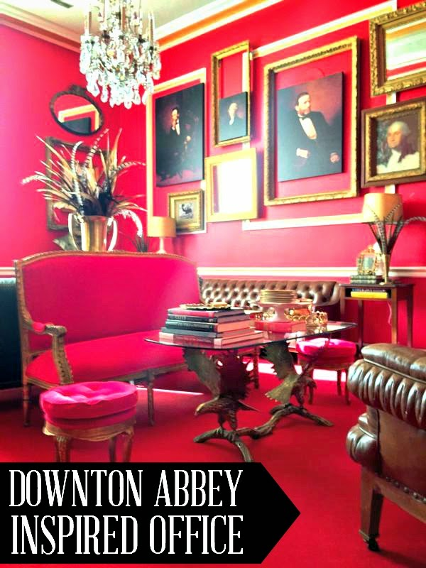 Aaron Schocks Downton Abbey Inspired Office