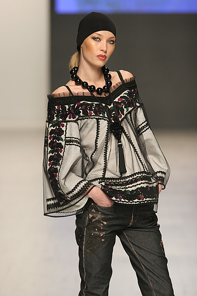 Embroidered blouse from fashion designer Roksolana Bogutska, West Ukraine