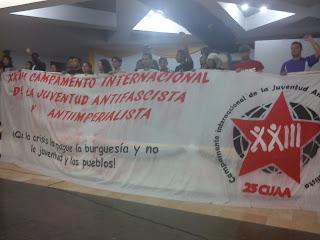 Constitucion formal de la Corriente de Jóvenes Antifascistas y Anti-imperialistas en el marco del XXIII CIJAA