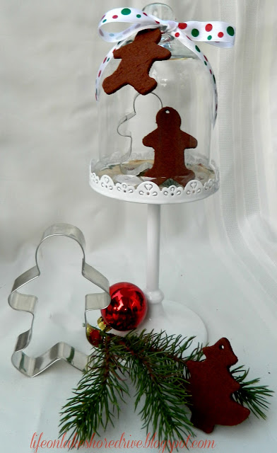 "alt=""Decorating cloches and mini cupcake stands for Christmas"""