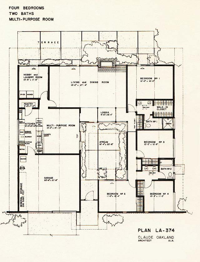 Friendly architecture eichler homes august 2011 for Atrium home plans